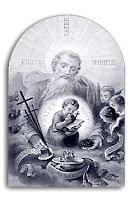 Devoción a la Divina Providencia. Estampa religiosa de finales del siglo XIX