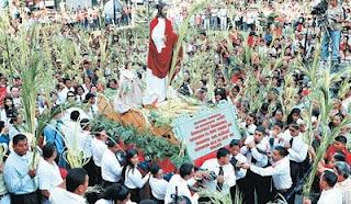 Domingo de Ramos en Tegucigalpa. 2,009. Imagen de El Heraldo.