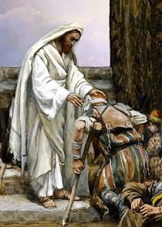 Jesús Sanando a un enfermo