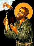 San Benito en la hora de su muerte