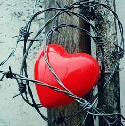 Corazón rodeado de púas